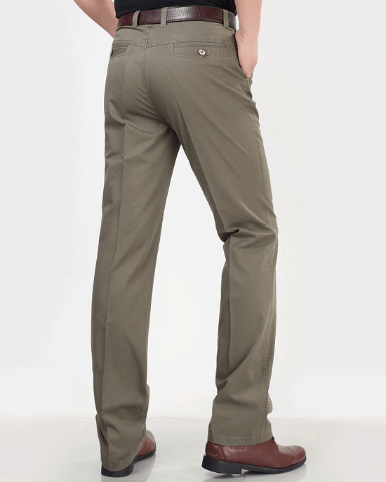 Men's Classic Fit Stretch Cotton Dress Pants