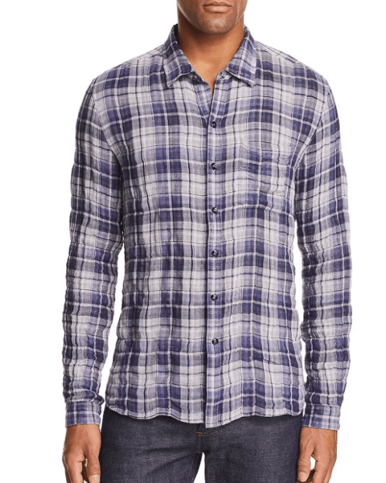 Plaid Reversible Regular Fit Shirt