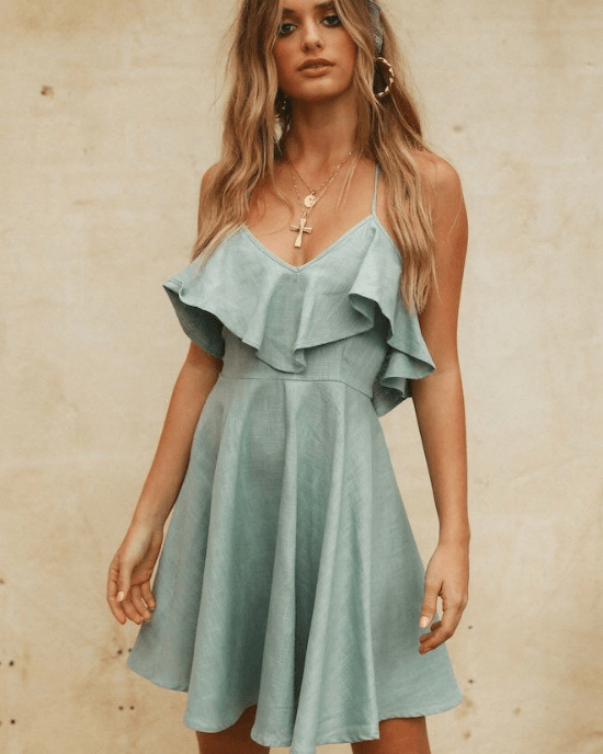 Women's Summer Beach Chiffon Dress