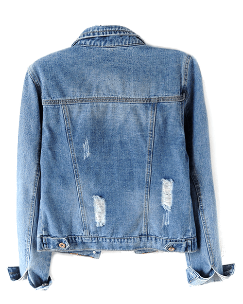Women's Led Denim Jacket in Magnetic Blue