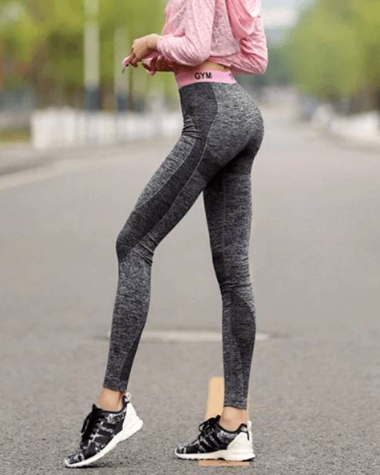 Women's Patchwork Slim High Waist Elastic Leggings