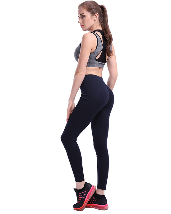 Women's Push Up Polyester V-Waist Leggings