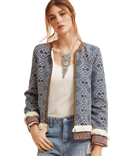 Women's Long Sleeve Elegant Boho Jacket
