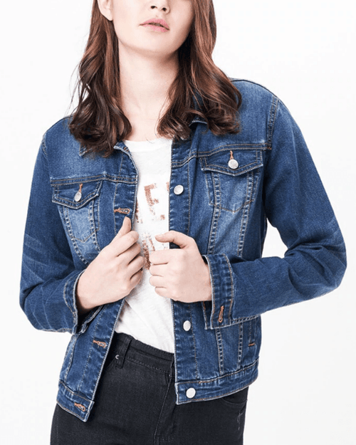 Women's Amelia Denim Jacket. Plus Size