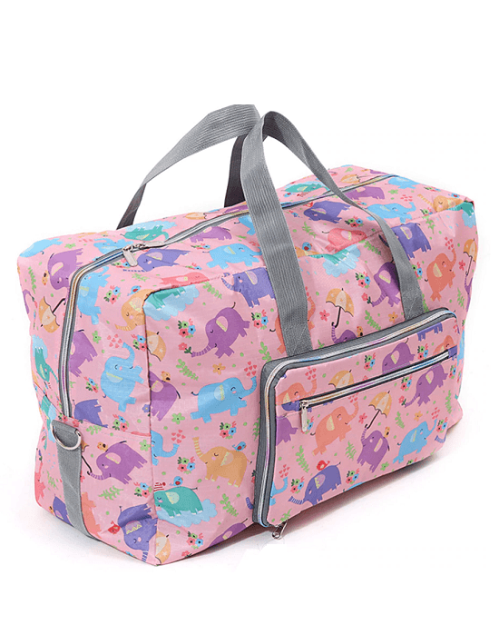 Multicolor Animal Graphic Print Foldable Large Travel Bag