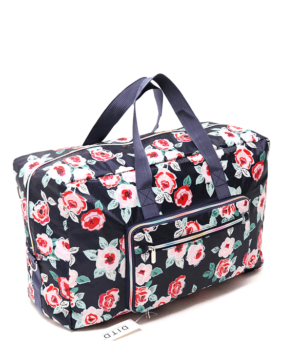 Multi Graphic Print Foldable Large Travel Bag