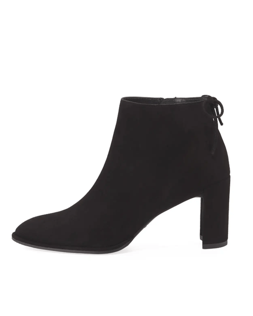 Stuart Weitzman Lofty Suede Pointed-Toe Booties