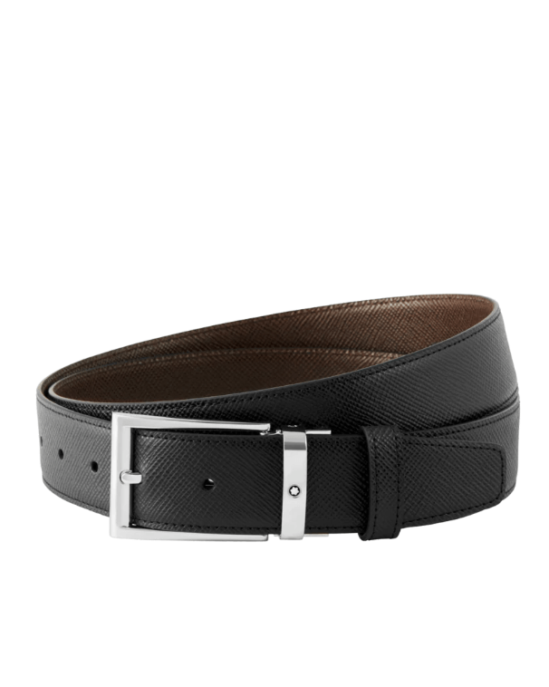 Mont Blank Black/Dark Brown Reversible Cut-To-Size Business Belt