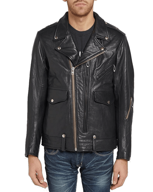 Neighborhood Men's  Gride Leather Jacket