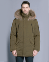 Ice Bear Man's Arctic With Fur-Trim Down Parka