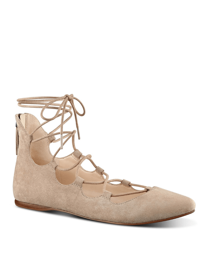Sign Me Up Suede Lace-Up Flat