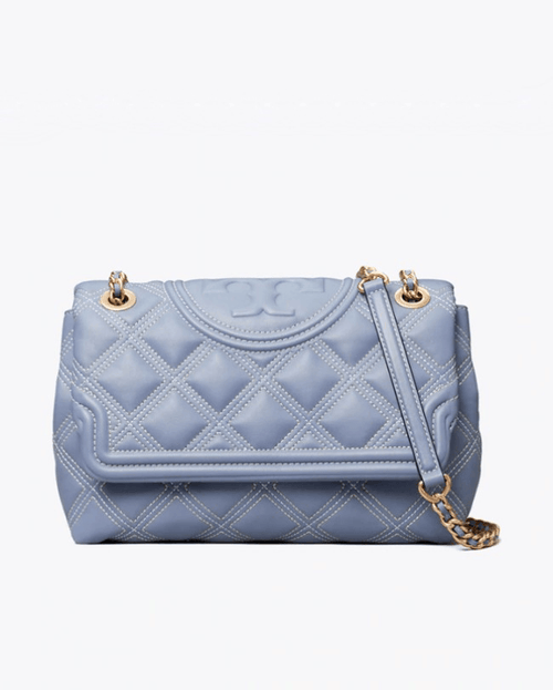 Tory Burch Fleming Soft Contrast-Stitch Convertible Shoulder Bag