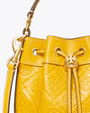 Tory Burch T Monogram Leather Mini Bucket Bag
