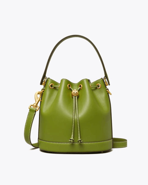 Tory Burch T Monogram Leather Bucket Bag