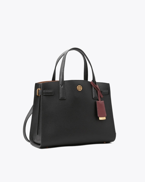 Tory Burch Walker Small Satchel, Black