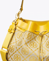 Tory Burch T Monogram Jacquard Drawstring Hobo, Goldfinch