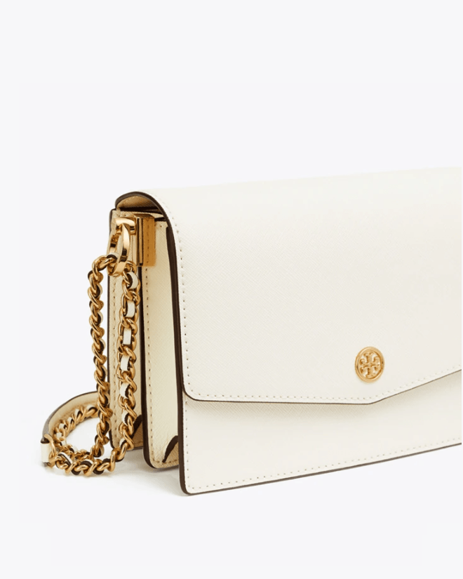Tory Burch Robinson Convertible Mini Shoulder Bag, Birch