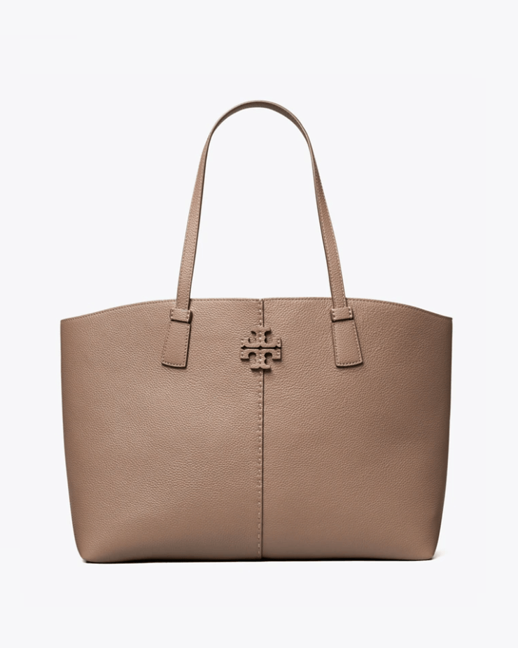 Tory Burch Mcgraw Tote Bag, Silver Maple