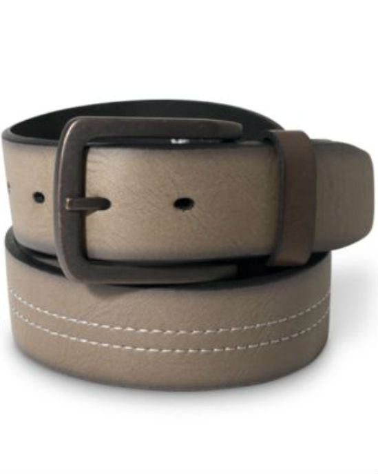 Levi's Bridle Center Contrast-Stitch Leather Belt-LEVI'S-Fashionbarn shop