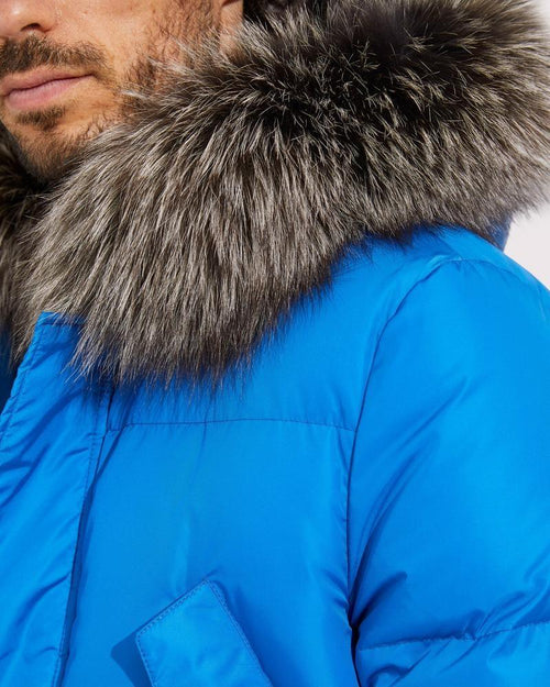 Army By Yves Salomon Long Fox-Fur Down Jacket