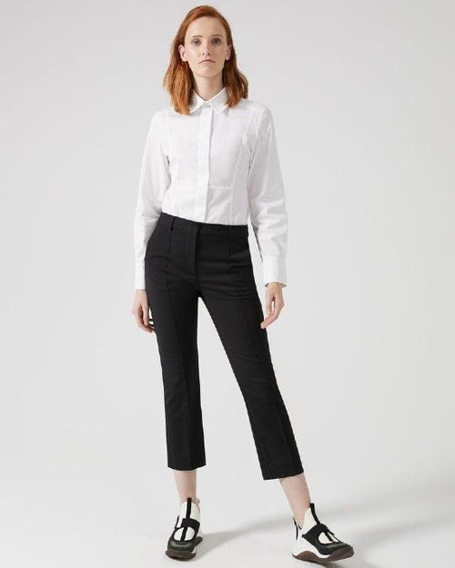 Sportmax Ankle Crop Cotton Trousers