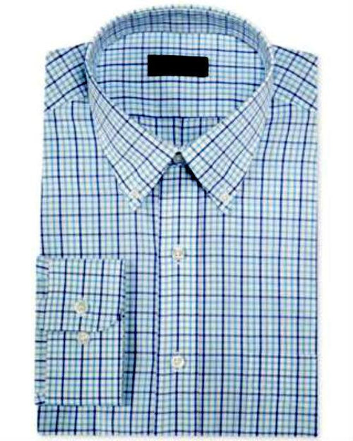 Club Room Blue Mint Multi Check Dress Shirt-CLUB ROOM-Fashionbarn shop