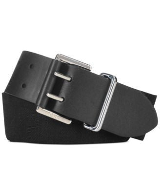 Lauren Ralph Lauren Stretch Waist Belt with Double Black XL - Fashionbarn shop