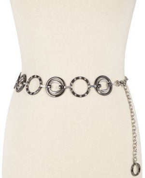 Style Co. Circle Stone Chain Belt Black ML - Fashionbarn shop