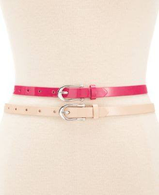 Style Co. Patent 2 for 1 Belt Pinkblush S - Fashionbarn shop