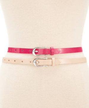 Style Co. Patent 2 for 1 Belt Pinkblush XL - Fashionbarn shop