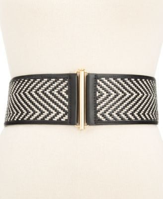 Vince Camuto Woven Cording Stretch Waist Be BlackGold LXL - Fashionbarn shop