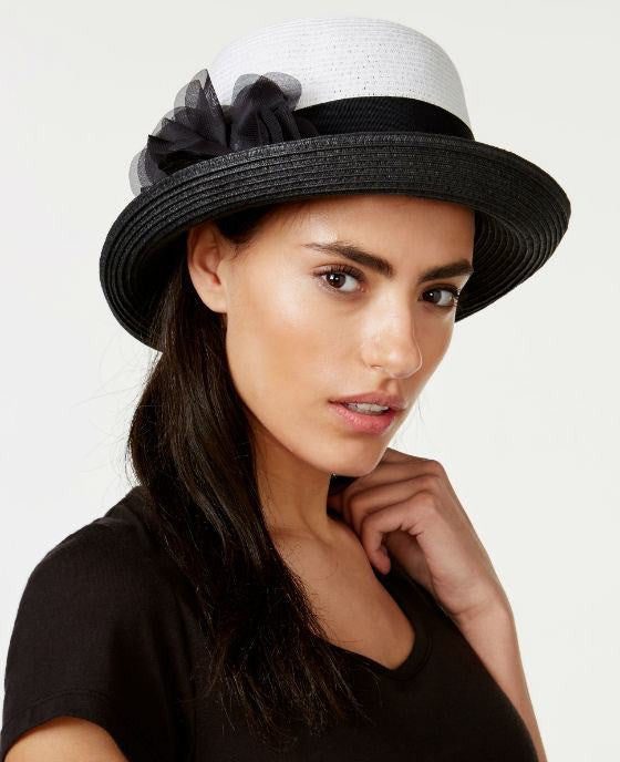Nine West Flower Pin Cloche Hat - Fashionbarn shop