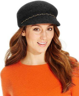Nine West Felt Newsboy Hat Black - Fashionbarn shop - 4