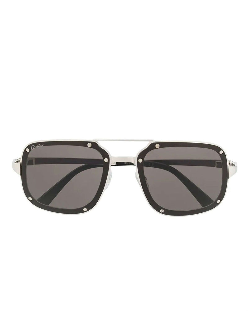 Cartier Men's CT0194S Square Tinted Sunglasses