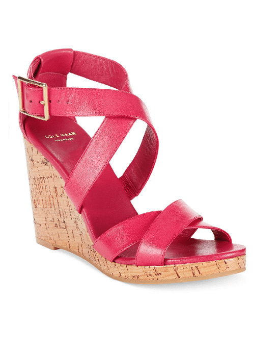 COLE HAAN Jillian Open Toe Platform Wedge Sandals - Fashionbarn shop