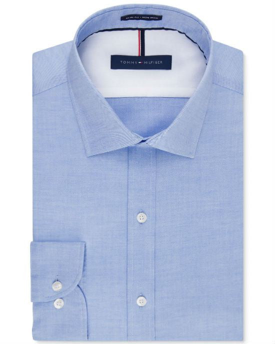 89642e06 Tommy Hilfiger Slim-Fit Non-Iron Soft Wash Solid Dress Shirt-TOMMY HILFIGER