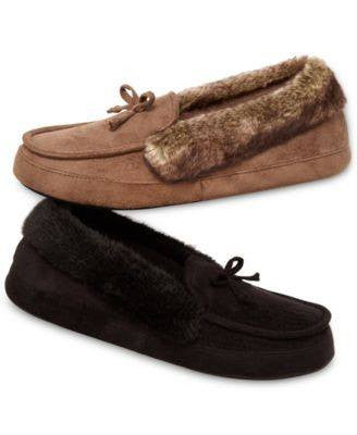 Isotoner Signature Woodlands Microsuede Tundra Mo Slippers - Fashionbarn shop - 4