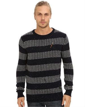 Scotch & Soda Crew Neck Rocker Knit Pullover-SCOTCH AND SODA-Fashionbarn shop
