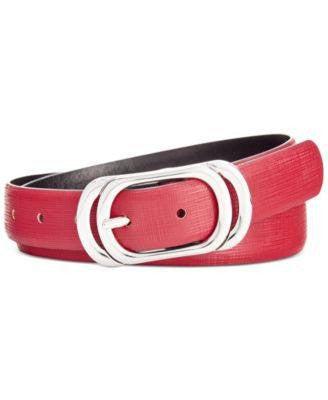 Style Co. Oval Reversible Belt Wineblack M - Fashionbarn shop