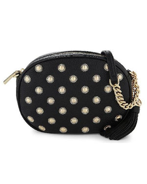MICHAEL Michael Kors Black Ginny Studded Medium Leather Cross-body Bag