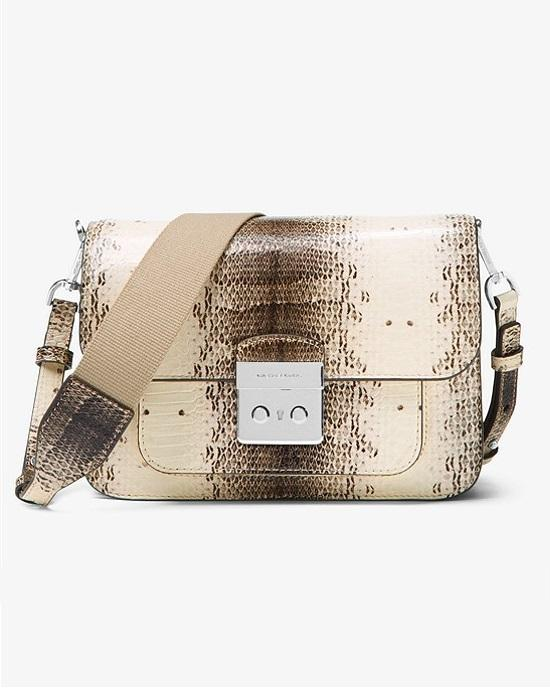 MICHAEL Michael Kors Sloan Editor Snake-Embossed Leather Shoulder Bag