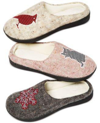 Isotoner Signature Holiday Snow flake Sweater Knit Critter Clog Slippers - Fashionbarn shop - 4