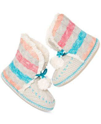 Jenni Stripe Slipper Booties - Fashionbarn shop