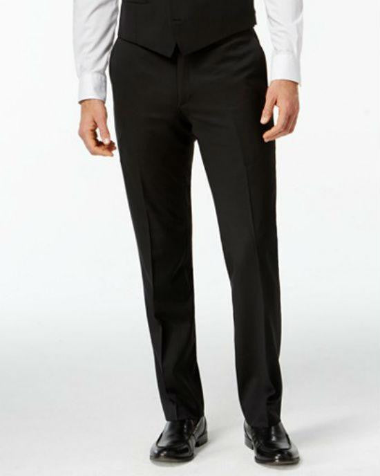 Bar III Black Solid Slim-Fit Pants-BAR III-Fashionbarn shop
