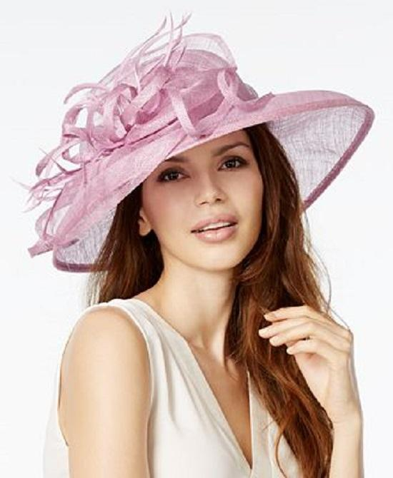 August Hats To The Races Sinamay Asymmetrical Downbrim Dress Hat