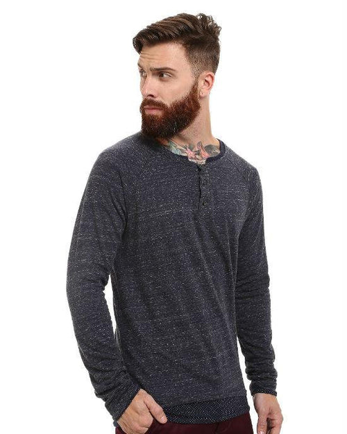 Scotch & Soda Long Sleeve Henley with Inner Tee-SCOTCH AND SODA-Fashionbarn shop