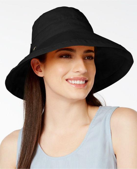 Scala Cotton Canvas Bow Kettle Hat - Fashionbarn shop - 1