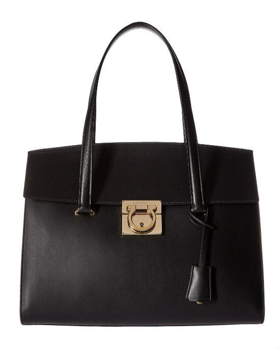 Salvatore Ferragamo Mara Leather Satchel