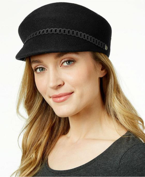 Nine West Felt Newsboy Hat Black - Fashionbarn shop - 1