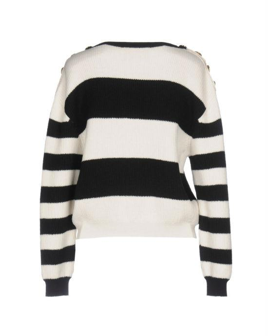 Boutique Moschino Black Striped Wool Sweater